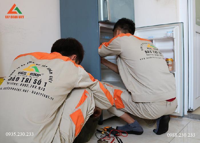 Tủ lạnh không mát, kỹ thuật tiến hành kiểm tra sửa chữa tại nhà khách hàng