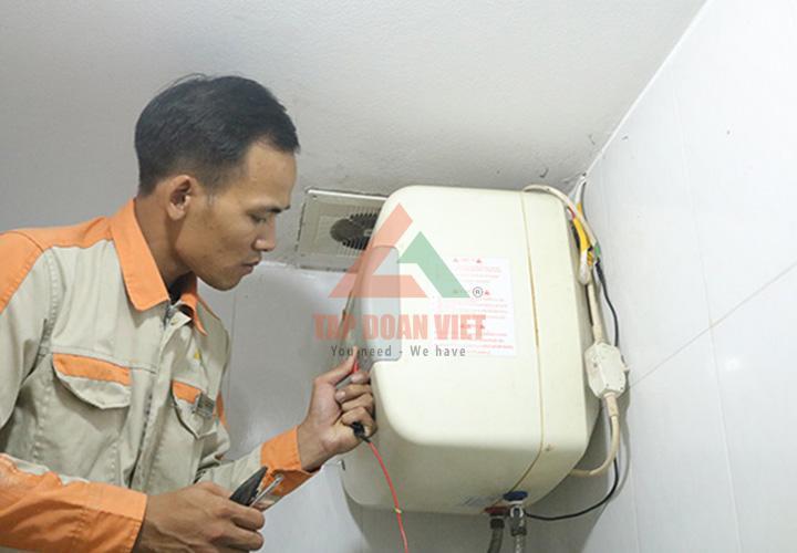 Lắp đặt bình nóng lạnh tại nhà ở quận Hoàng Mai uy tín chất lượng